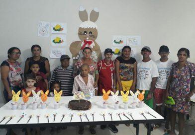 Páscoa comemorada pelo grupo Superação
