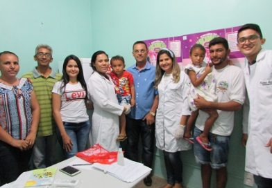 Prefeitura através da Secretaria de Saúde realiza dia D de vacinação contra pólio e sarampo