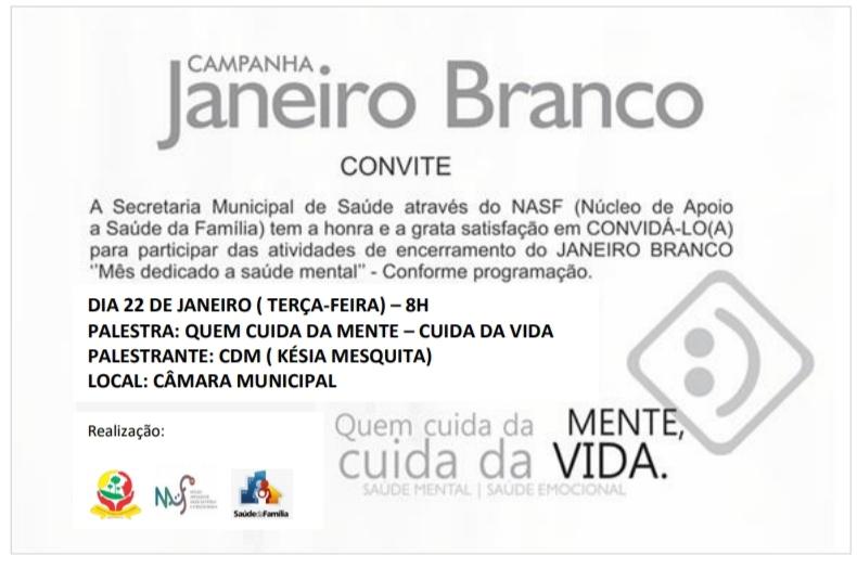 Prefeitura Municipal convida para Janeiro Branco